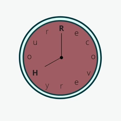 Red/Pink clock face